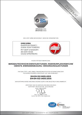 Zertifikat ISO-9001 14001 2020